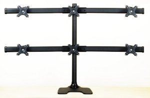 """GmaNsWorlD.com - EasyMountLCD Deluxe Hex Monitor Stand Free Standing Supports up to 6 28"""""""