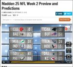 Maddens NFL Week 2 Preview on GmaNsWorlD.com