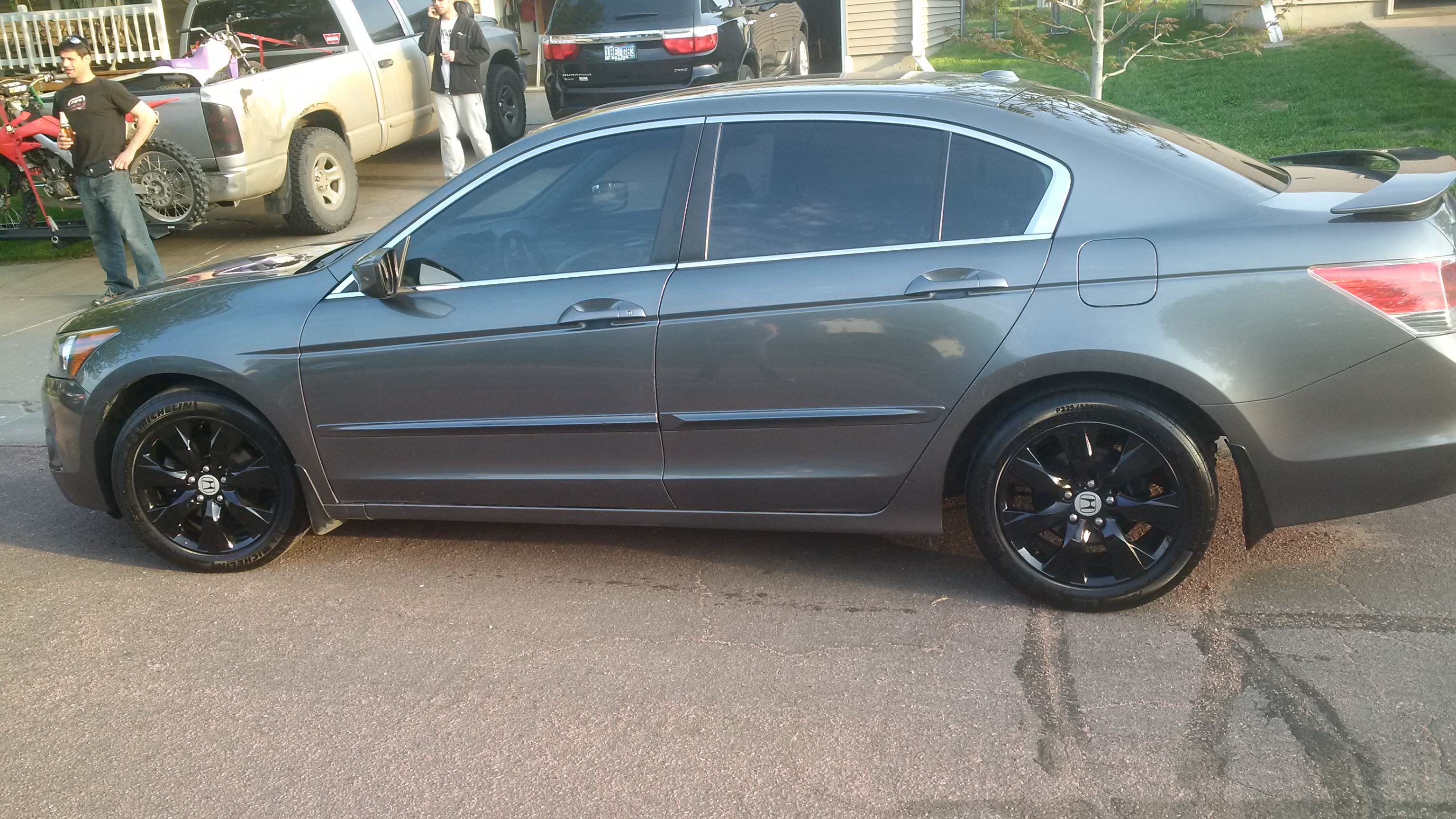 2009 Honda Accord Coupe Black Rims